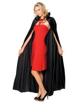 View Item Adult Long Crushed Velvet Cape Fancy Dress Halloween Vampire Cape Accessory