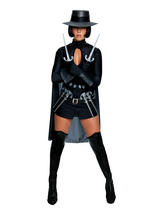 V For Vendetta Ladies Costume With Daggers