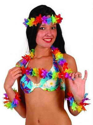 4 Piece Garland Set Fancy Dress Hawaiian Party Lei Accessory