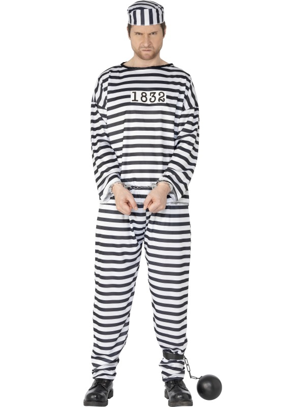 Convict Prisoner Orange Prison Break Boiler Suit Fancy Dress ...
