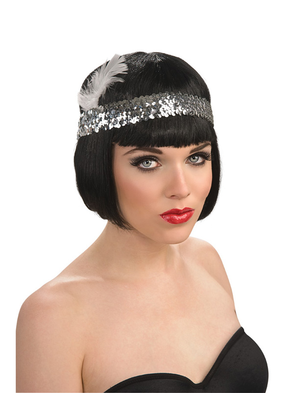 Flapper Headpiece Ebay Sequin Flapper Headpiece