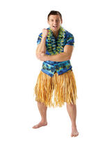 Natural Coloured Hawaiian Grass Skirt