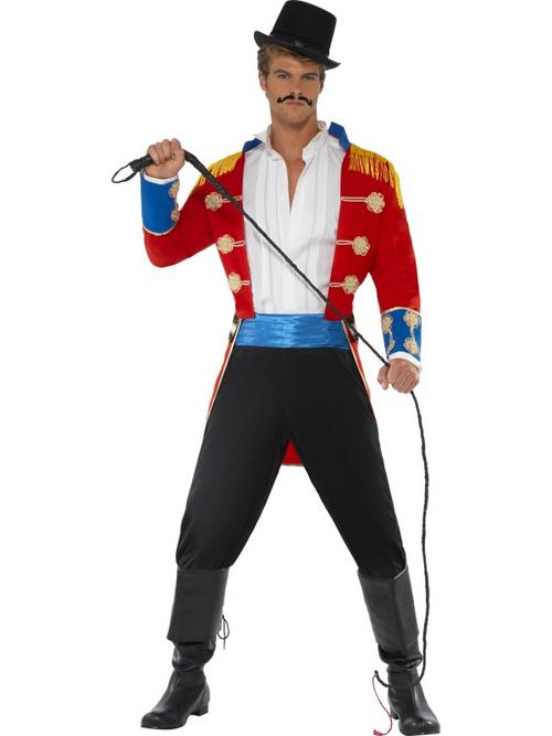 Lion Tamer Costume http://www.plymouthfancydress.com/products/mens-costumes-other-styles/(smi)20899-multi-adult-lion-tamer-ringmaster-fancy-dress-circus-costume-(chest-sizes-38-44).html