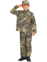 Boy's camouflage Army Costume