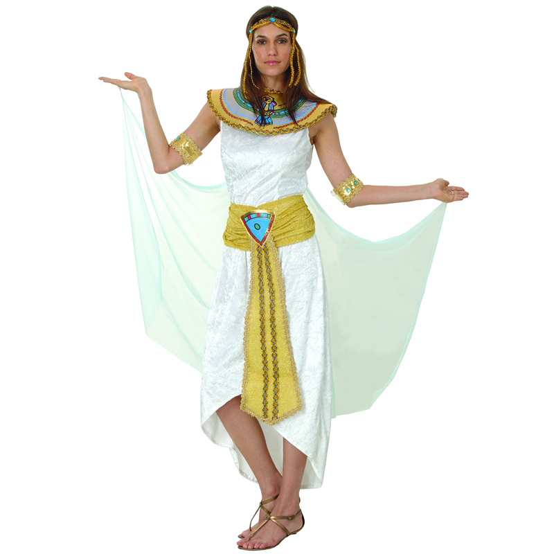 Adult Ladies Cleopatra Fancy Dress Costume Egyptian Queen ...