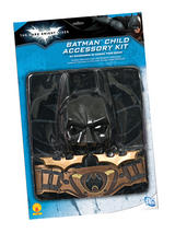 View Item Childs Batman Kit Inc Chest Piece Cape Mask Utility Belt Batarangs Fancy Dress
