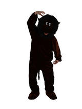 Men's Giant Black Gorilla Jumpsuit Costume