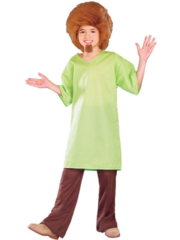 Childs licensed scooby doo shaggy fancy dress costume kids boys male