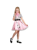Girl's 1950s Bopper Girl Costume