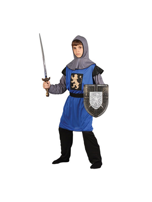 Boy's Blue Medieval Knight Costume