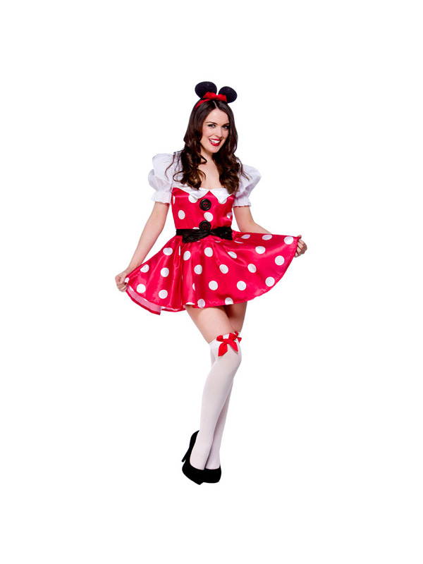 Adult-Sexy-Mouse-Fancy-Dress-Costume-Fairytale-Outfit-Minnie-Ladies-Maid-BN