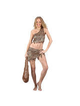 Ladies Sexy Cave Girl Crop Top Costume