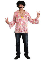 Men's Swirl Shirt And Yellow Medallion