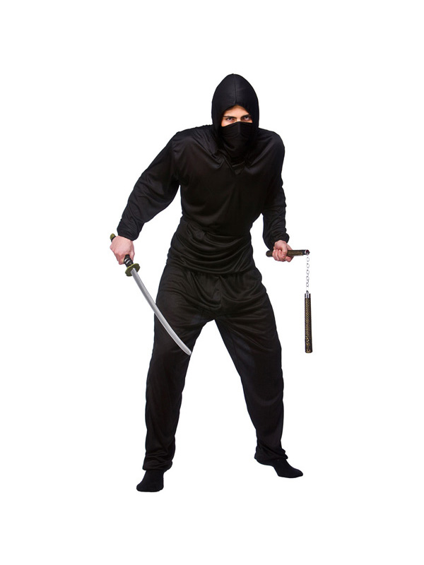 Menu0026#39;s Black Ninja of the Night Costume | Historical Costumes | Fancy Dress Fast Costumes and ...