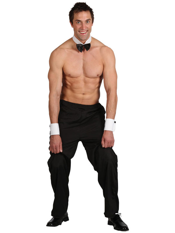 Menu0026#39;s Topless Male Stripper Costume | Stag Do | Fancy Dress Fast Costumes and Accessories