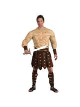 View Item Adult Ancient Gladiator Roman Warrior Fancy Dress Costume Mens Gents Male