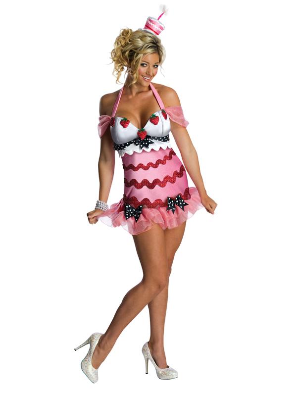 Adult Birthday Cake Fancy Dress Costume Sexy Ladies Women Female ...