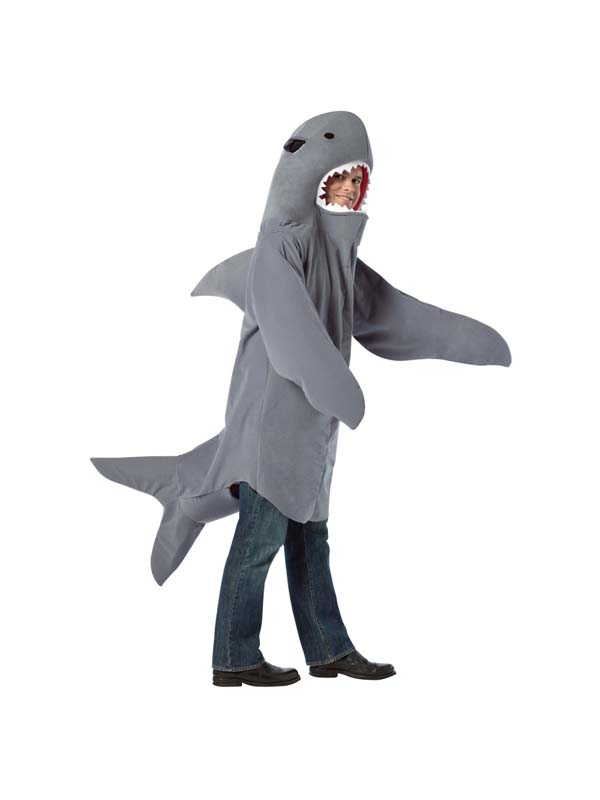 Adult funny sea world shark mens fancy dress costume for Fish costume for adults