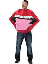 Adult's Red Lips Costume
