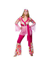 Ladies Go Go Hippie Chick Costume