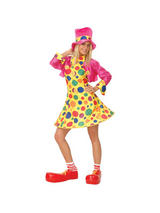 Ladies Hooped skirt Circus Clown Costume