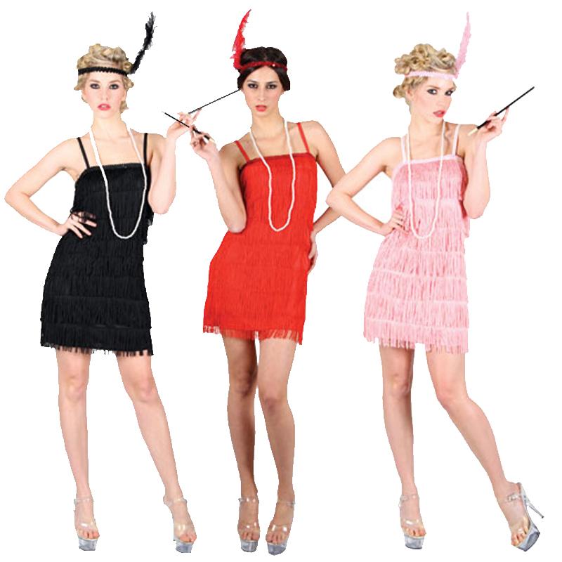 ... -Flapper-Girl-1920s-Fancy-Dress-Costume-Charleston-Red-Black-Pink