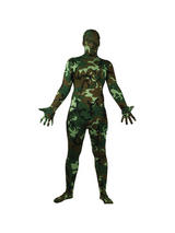Men's Camouflage One Piece Skinz Costume