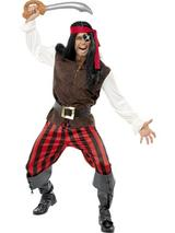 View Item Adult Pirate Ship Mate Buccaneer Fancy Dress Costume Mens Gents Male