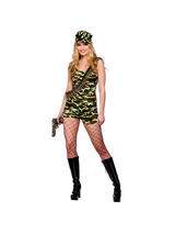 Ladies Boot camp Army Babe Costume