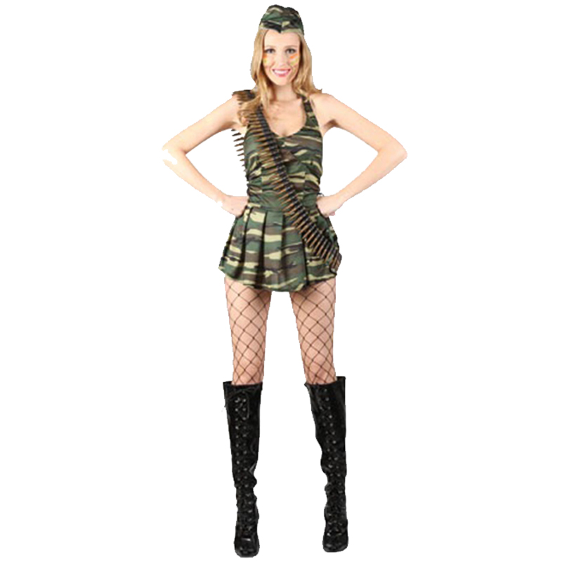 Adult-Ladies-Sexy-Army-Military-Soldier-Uniform-Fancy-Dress-Costumes-War-Womens