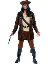 View Item Adult Buccaneer Pirate Carribbean Fancy Dress Costume Mens Gents Male