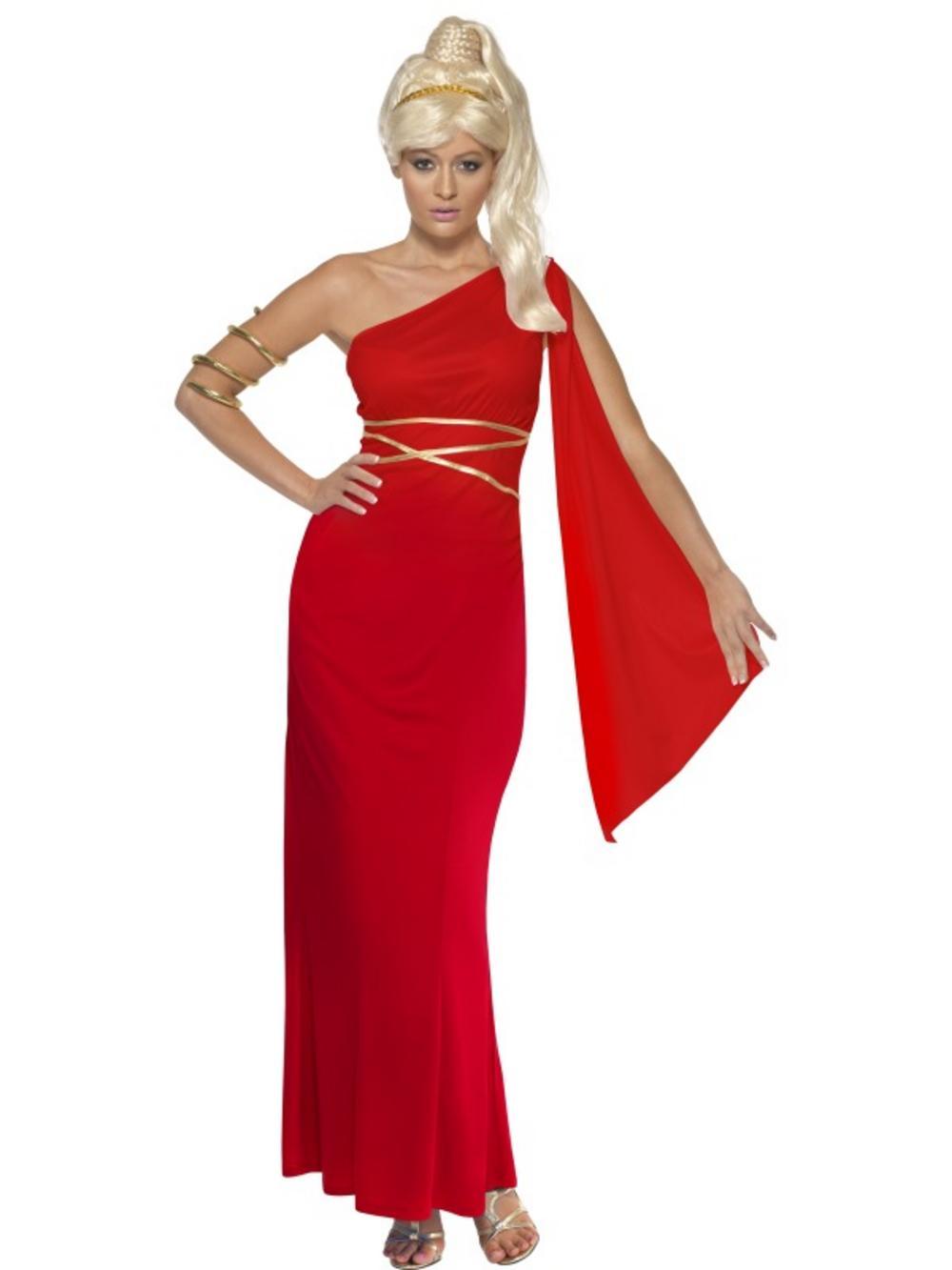 Adult Aphrodite Greek Goddess Grecian Fancy Dress Costume ... Aphrodite Greek Mythology Costume