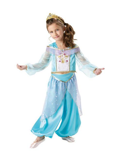 Child Licensed Disney Princess Jasmine Sparkle Fancy Dress Costume Kids Girls Buy Online