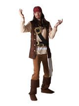 View Item Adult Licensed Disney Captain Jack Sparrow Pirate Fancy Dress Costume Mens
