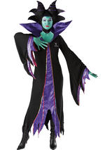 View Item Adult Licensed Sleeping Beauty Maleficent Fancy Dress Costume Ladies Women