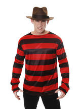 View Item Adult Freddy Krueger Jumper Striped Dennis Menace Fancy Dress Costume Halloween