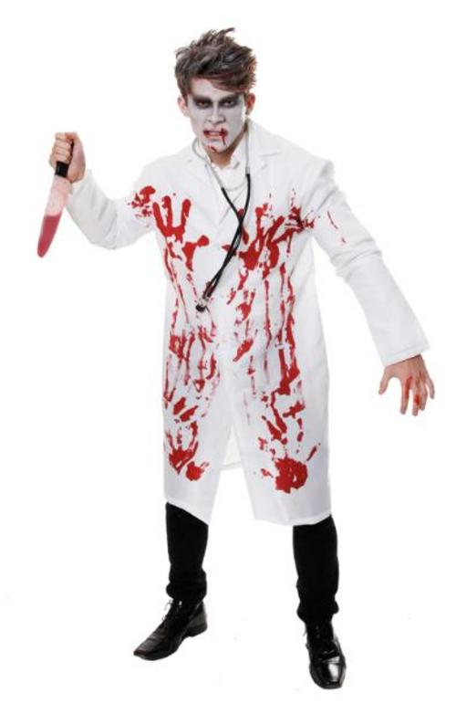 whats creepier than costumes with fake blood smeared all over them and all over peoples faces whether its a zombie a mummy a farmer or a bunny - Bloody Halloween Masks