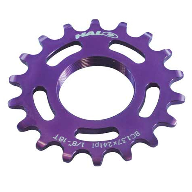 New-Halo-Road-Track-Fixie-Cycle-Bike-Fixed-Single-Speed-Bicycle-Cog-Purple-19t