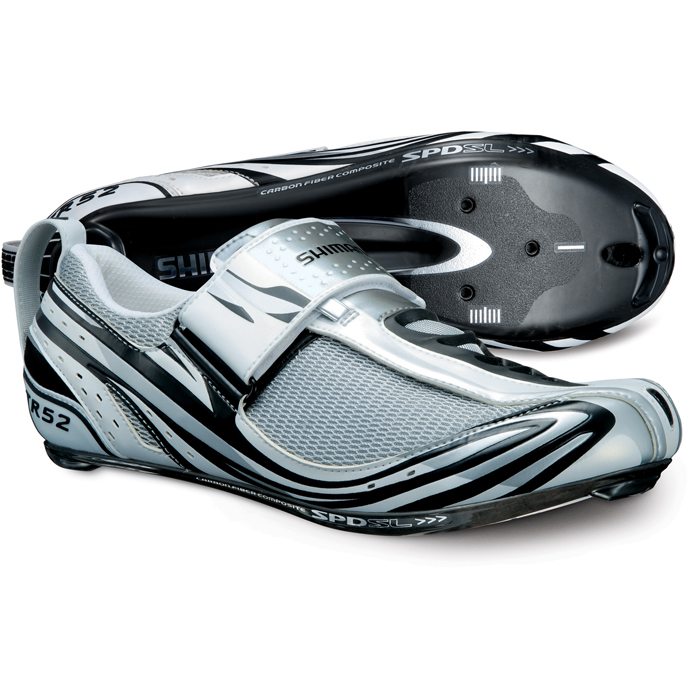 Shimano-Road-Triathlon-Bike-Shoe-TR52-SPD-SL-Cycling-shoes-White-Black