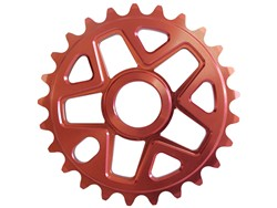 Savage BMX Bike Cycle Single Speed Sprocket 25T RED Cog Enlarged Preview