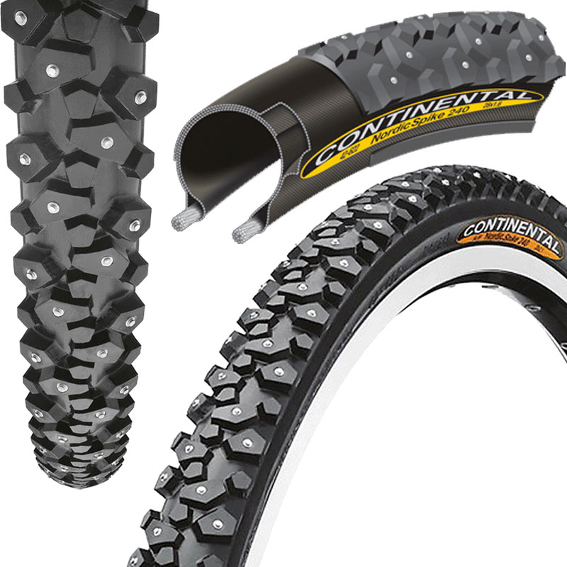 Continental-Nordic-Spike-Ice-Snow-Winter-Urban-Road-Bike-Tyre-120-Spikes