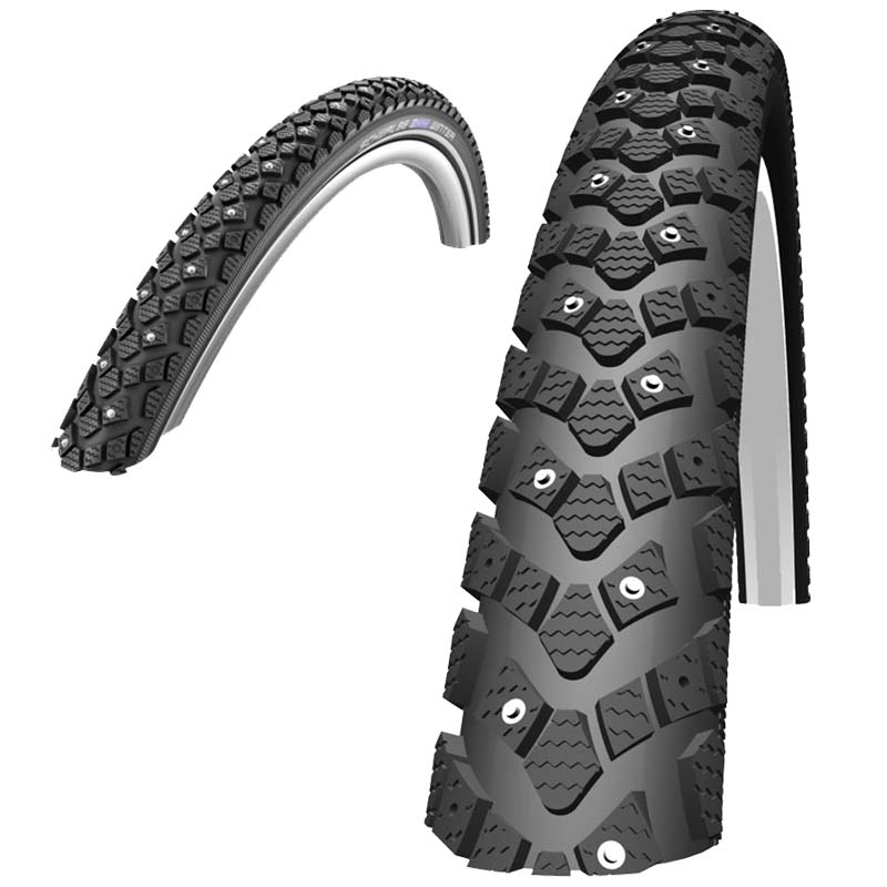 Schwalbe-Winter-Road-Bike-Spikes-Hybrid-Commuter-KevlarGuard-Tyre-Black-Reflex