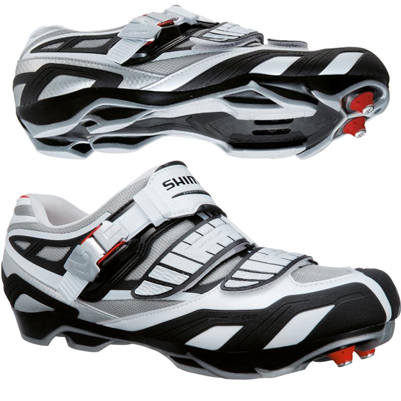 Shimano-Mens-M240-XC-MTB-CX-Mountain-Bike-off-road-SPD-Race-Shoe-White-Red