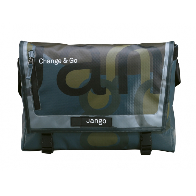 Jango Messenger NEW Travel Front Cycling Bag Black Courier Commuter Pack Satchel Enlarged Preview