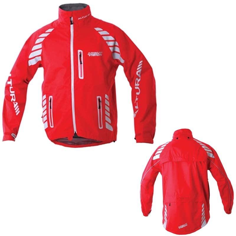 altura night vision evo mens waterproof cycling jacket