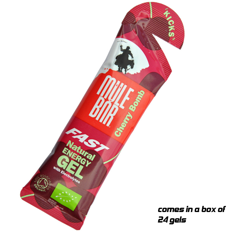 Разное Mulebar Kicks Fairtrade Organic Energy Carbohydrate Gel - Box of 24 Gels x 37g