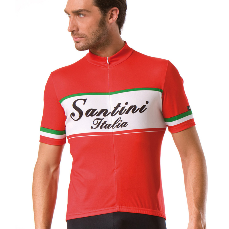2013-Santini-Mens-Italy-Italia-Road-Bike-Cycling-Short-Sleeve-Summer-Jersey-Top