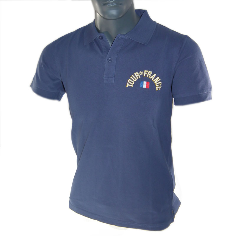 Tour-de-France-Cycling-Bicycle-JERSEY-Official-Bike-Polo-Shirt-Navy-Blue-Size-XL