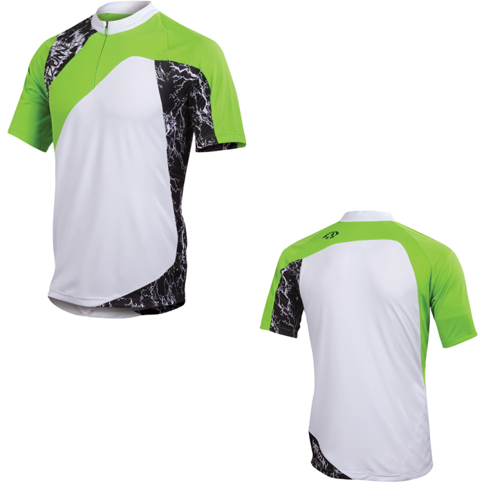 Pearl Izumi 2012 MenS Mtb Canyon Jersey White / Green Flash Medium Enlarged Preview