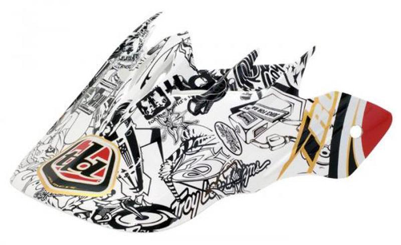 Troy Lee Designs D2 Orbit Visor History White  Bike Full Face Helmet Spare